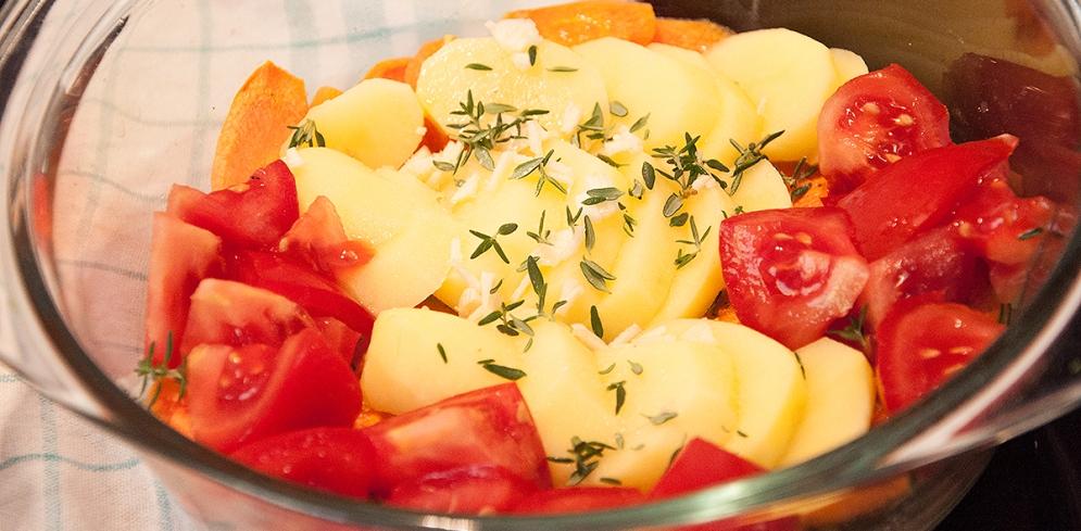 Das Kartoffel-Gemüse-Bett
