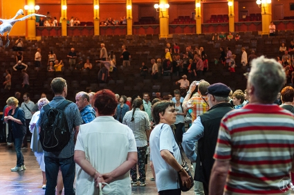 Bayreuth Wagner Open House Technik Schwanensee Zuschauer