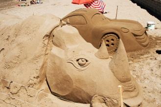 Sandkunst für Touristen
