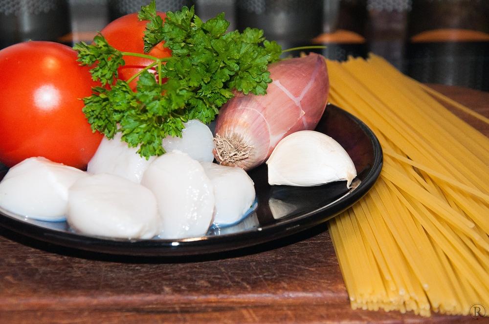 Scallops mit Spaghetti