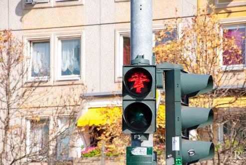 Dresden Ampelmädchen rot
