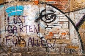 Dresden Neustadt Graffitti Mauersteine