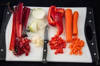 das kommt noch an Gemüse dazu