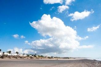 Der Strand von Chiclana de la Frontera - Wolken